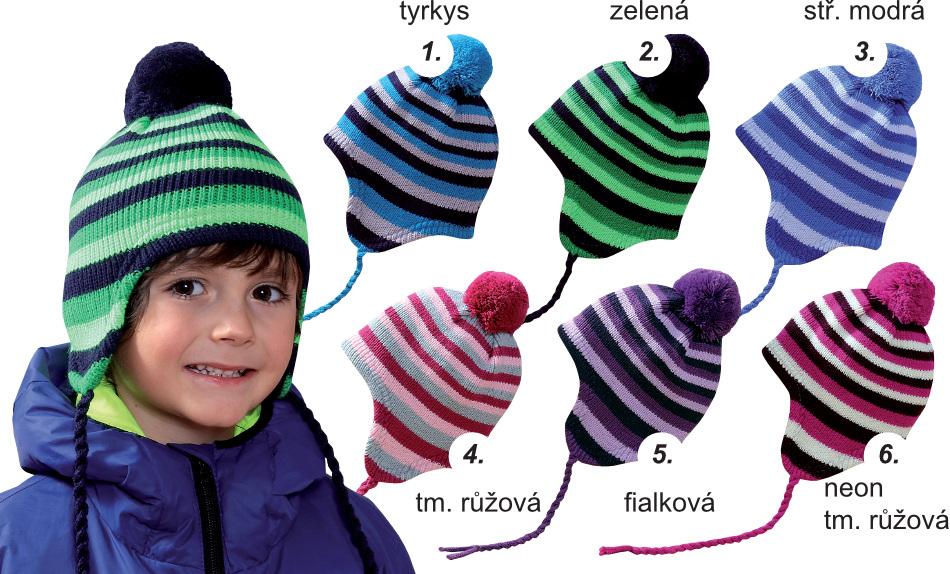 2590a1fdbc8 Dětská zimní čepice PLETEX - H090