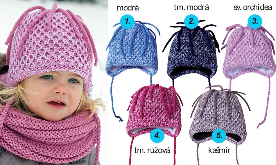 Dětská zimní čepice PLETEX - H097  84043961bf