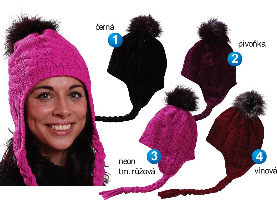 Dámská   Dívčí zimní čepice PLETEX - L408  fa6968c91b