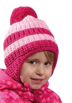 Dětská dvoubarevná zimní čepice s bambulí PLETEX - H079 0a27e20ad5