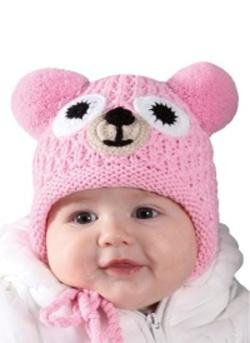 Dětská zimní čepice PLETEX - H081 Medvídek f9a5ad4f3a