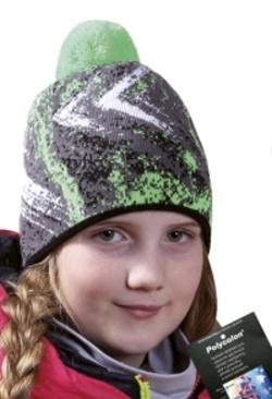 Dětská vzorovaná zimní čepice s bambulí PLETEX - H088 6fd00248d2