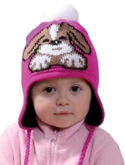Dětská zimní čepice PLETEX - H094 Pejsek 94aa25d8af