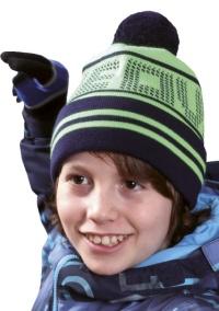Dětská zimní čepice s bambulí PLETEX - P324 98ddcb5609
